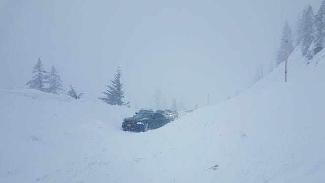 An avalanche closed Highway 20 Wednesday afternoon.