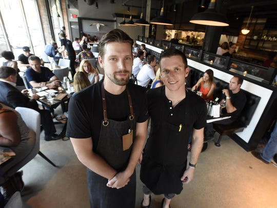 Joe Giacomino, left, and John Vermiglio, co-owners of Grey Ghost restaurant in Midtown on Watson.