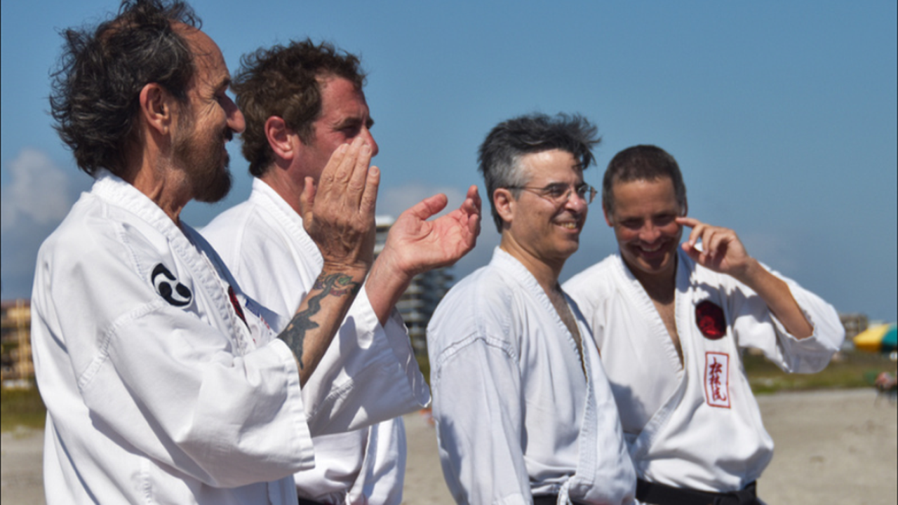 Ueshiro Shorin-Ryu Karate USA celebrated its 55th anniversary with a workout in Cocoa Beach. It was led by Hanshi Robert Scaglione. Video posted Feb. 7, 2017, by Jennifer Sangalang, FLORIDA TODAY