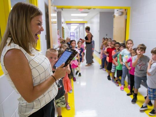 Angela Harbison, a kindergarten teacher at Gulf Elementary