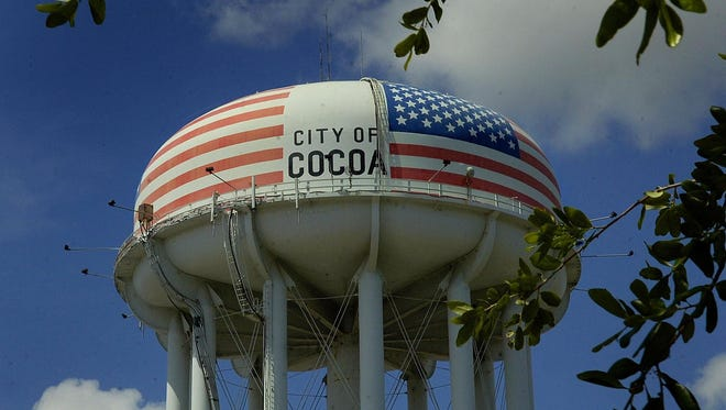 The City of Cocoa water tower.