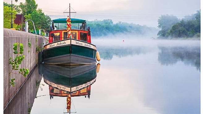 Shown here is the 2019 photo contest winner, The Max Jacob on the Erie Canal by Frank Forte.