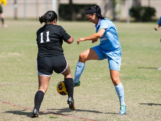 Women's soccer teams face off during the The 11th annual