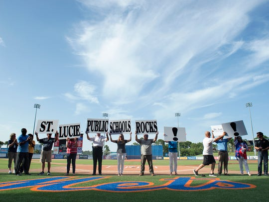 St. Lucie County Public Schools and St. Lucie County leaders take part in a Back to School Pep Rally in this August, 2017 file photo.