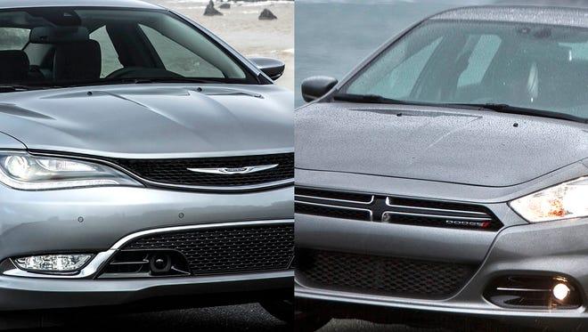 2016 Chrysler 200 C and 2016 Dodge Dart Limited