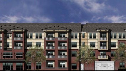 A rendering of the Flats of Walden Grove apartments planned between Nance Lane and Parris Avenue.