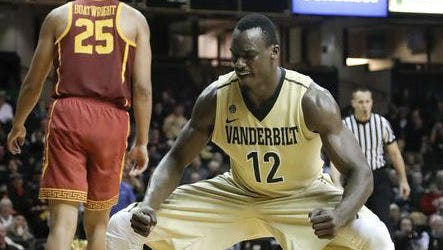 Djery Baptiste, who has started in five games, is averaging 5.4 points and 5.4 rebounds for Vanderbilt, which is off to a 3-6 start.