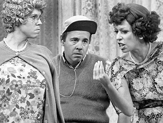 Vicki Lawrence, as Mama, with Tim Conway and Carol