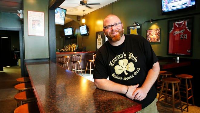 Jonas Lenehan inside his new bar, Lenehan's Pub, Monday, May 20, 2013, at 601 Main Street in downtown Lafayette.