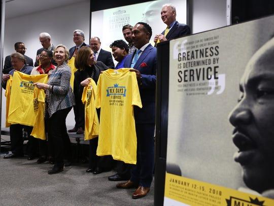 Community leaders display their MLK Days of Service