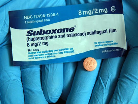 A medication that helps people with opioid or heroin