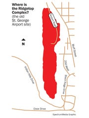 Location of the Ridgetop Complex, where St.George wants