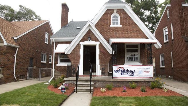 "This move-in-ready home at 18652 Monica Street in Detroit's Bagley neighborhood sold at auction for $45,600 from a single bidder through the Detroit Land Bank Authority's ""Rehabbed and Ready"" program launched last week."