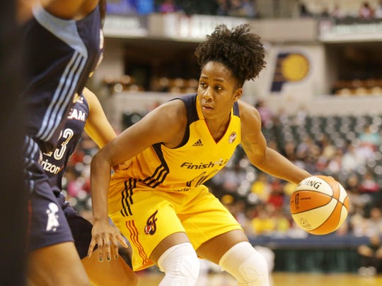 The Fever's Shenise Johnson finished Friday's game with a season-high 11 points