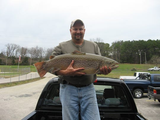 Scott Sandusky caught this 28-pound, 12-ounce Missouri record brown trout in 2009 at Lake Taneycomo. His record held until 2019, when Paul Crews caught a 34-pound, 10-ounce brown in Taneycomo.