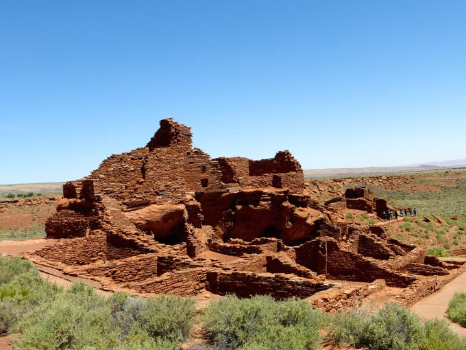The largest pueblo at Wupatki National Monument is
