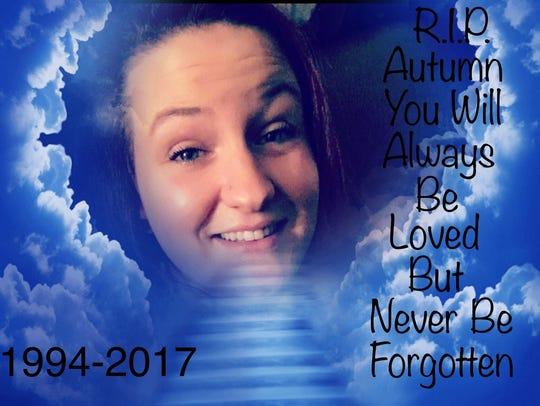 Autum Garrett, 22, of Andrews, Indiana, was slain during