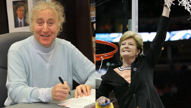 Actor Gene Wilder, left, and basketball coach Pat Summitt were both lost in 2016 after battles with Alzheimer's disease.