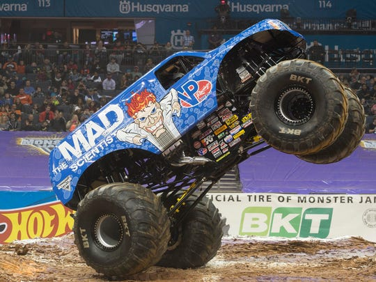 """Lee O'Donnell sometimes launches Mad Scientist some 30 feet into the air. He says he sometimes feels the affects of the landings a few days later. """"Monday's aren't the greatest, especially if you had a great show and you ran hard all weekend,"""" he said. """"Mondays are sore."""""""