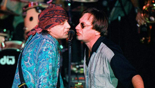 Steve Van Zandt and Southside Johnny at the  Tradewinds in 1998.