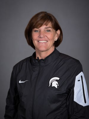 MSU volleyball coach Cathy George