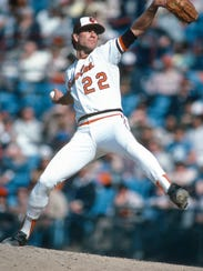 In this 1977 photo, Jim Palmer of the Baltimore Orioles