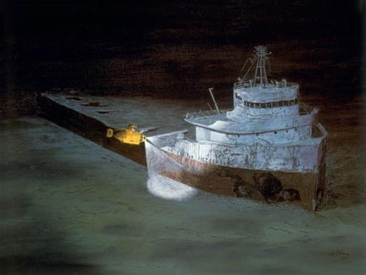 Unusual display in underwater shipwreck - CNN Video  |Edmund Fitzgerald Crew Remains
