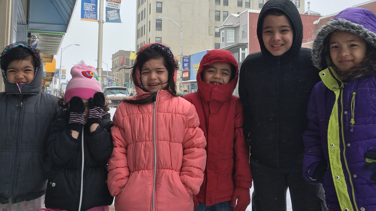 Video: Snow day in Hackensack