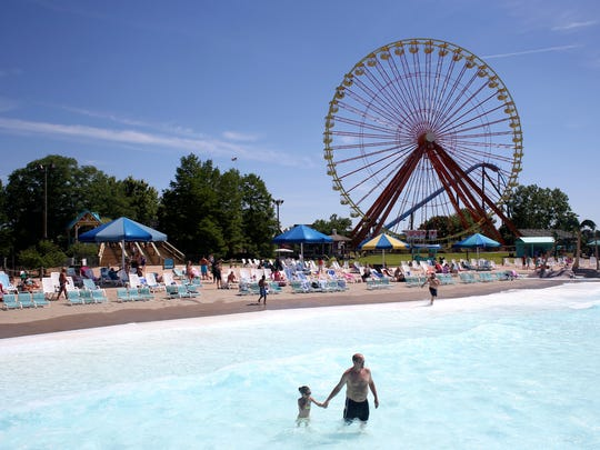 Kentucky Kingdom's Hurricane Bay water park is a great place to cool off.