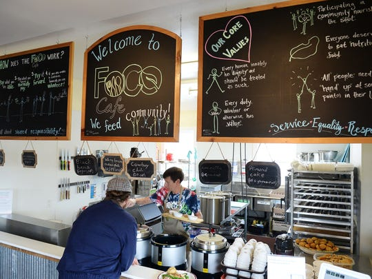 FoCo Cafe runs on volunteer labor and serves meals on a donation basis.