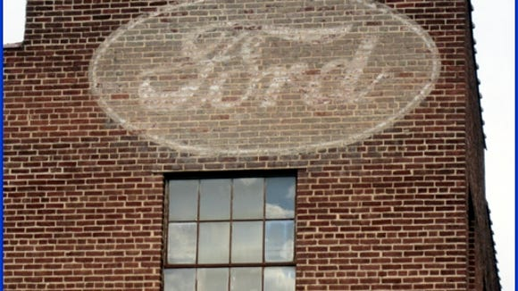 "This photo is of an old Ford ""ghost sign"" in York City."