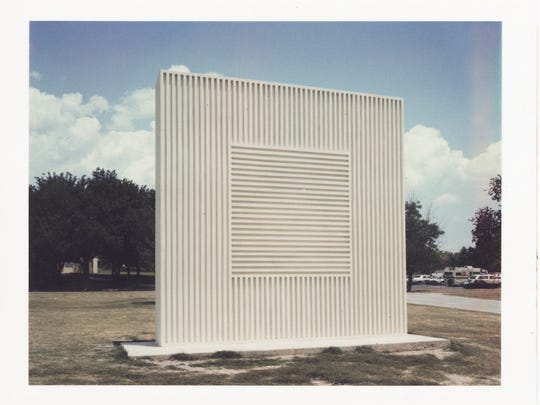 "A photograph of a Sol LeWitt outdoor sculpture. LeWitt's artwork will be discussed by Marisa Sage, New Mexico State University art museum director, in a seminar called ""Hidden Treasures: The Art of Sol LeWitt"" on April 19."