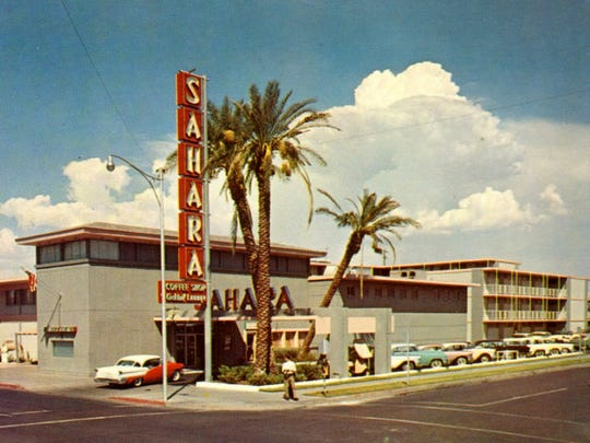 The Sahara Motor Inn opened in 1956 at the corner of First St. and Polk St .
