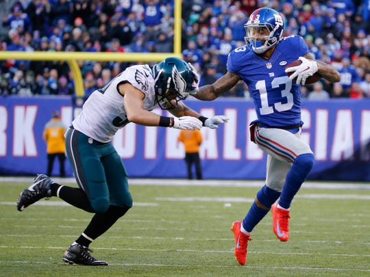 One of the Giants' needs is another receiver to play opposite of Odell Beckham Jr.