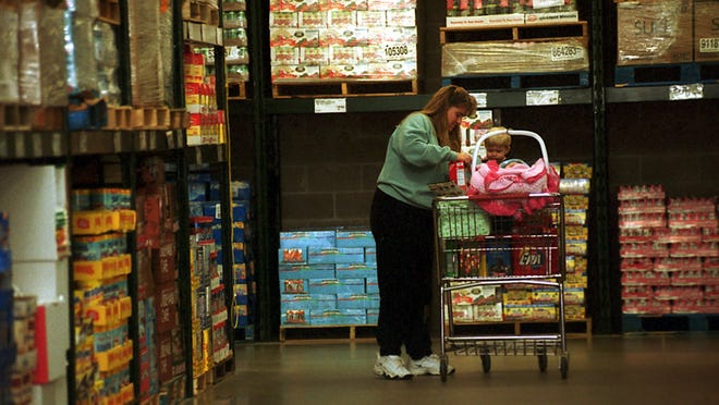 A woman shops at the Sam's Club in Rib Mountain.