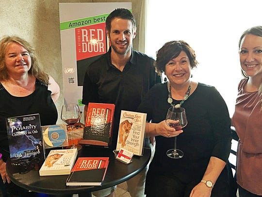Book signings C. A. Jamison, Jim Schroeder, Mary Ellen Ziliak and Lyndsee Priest welcomed readers to have their books signed by the authors at De Vonna's -- A Classy Little Wine Bar.