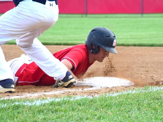 Riverheads' Grant Painter dives back into first base