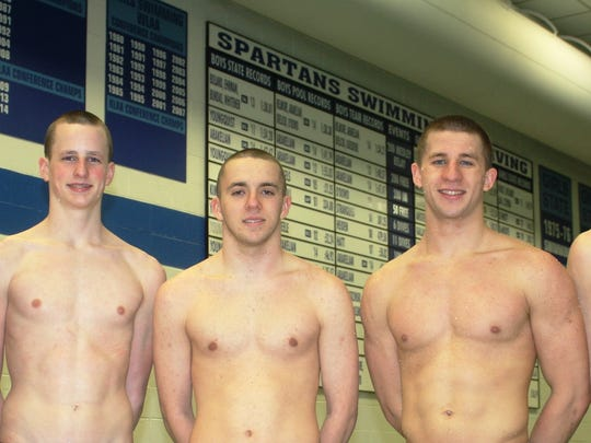 Pictured are the five Stevenson swimmers who earned