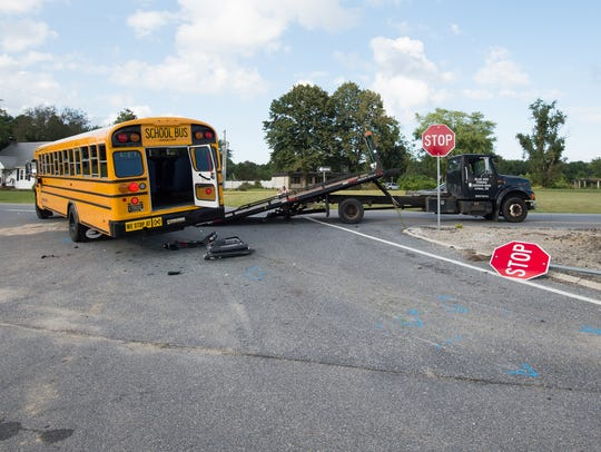 A serious collision involving a Cape Henlopen School