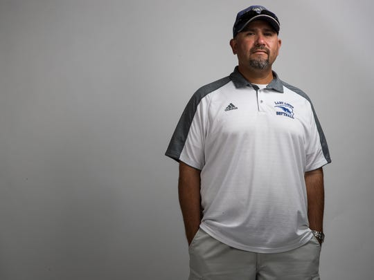 All-South TExas Coach of the year Thomas De Los Santos,