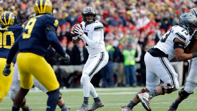 Ohio State redshirt freshman Dwayne Haskins will be the 2018 frontrunner to win the starting quarterback job many felt he should have been given this past season.