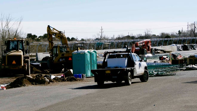 Work on the Hudson Street Bridge was continuing on Sunday afternoon in Silver City.