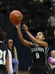 Bishop Kearney's Marianna Freeman gets off a shot during a game two seasons ago when she was a seventh-grader and just a few months removed from brain surgery.
