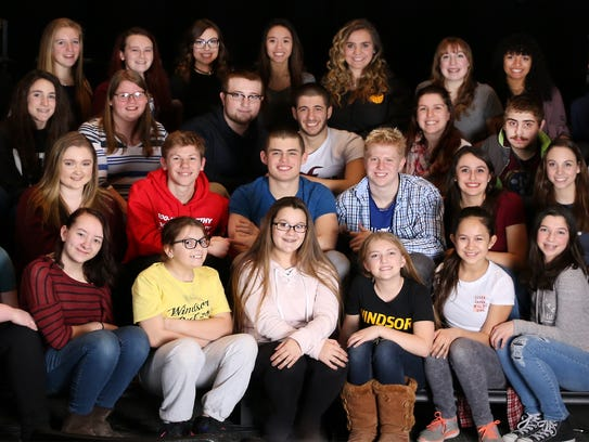 """The cast of Windsor High School's production of """"Seussical"""