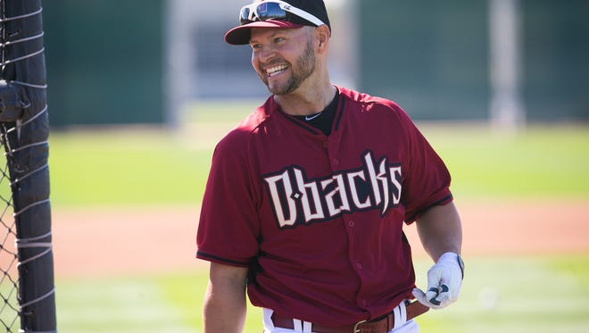 February 24, 2014 - Diamondbacks outfielder Cody Ross  during spring training team workouts at Salt River Fields at Talking Stick.
