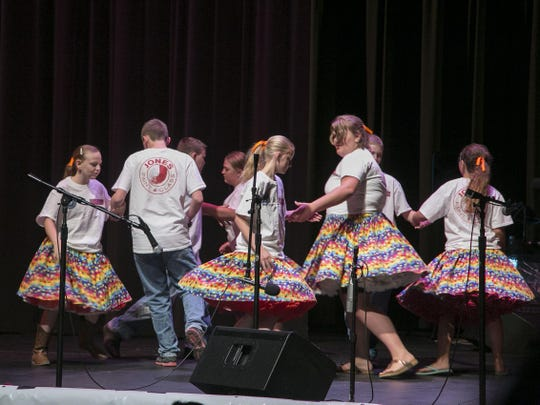 GrooveKids opening act featured the Rubiks Cube Youth Square Dancers: Trevor, Keegan, and Allie Hollis, Aspen and Ivy Holyoak, Kaylee Blackmore, Amber Christiansen, and Meranda Cummings, who performed in the Heritage Center Theater on Monday.