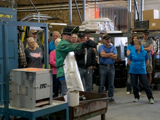 Jared Meibos gives a tour at Bear Valley Precision