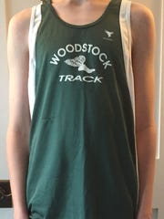 Davis Taylor wears his track uniform that he wanted