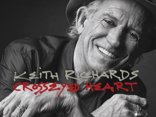 Keith Richards smiles on the cover of his new album
