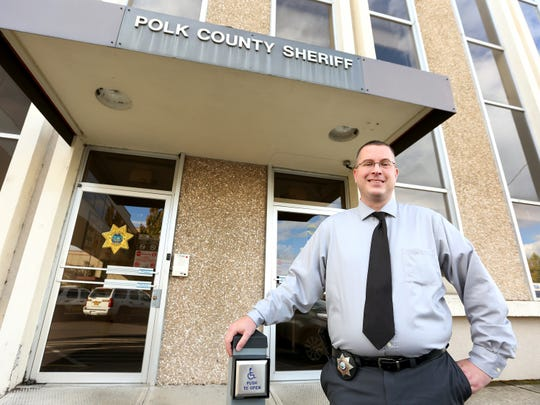 Sgt. Mark Garton stands outside the Polk County Sheriffs
